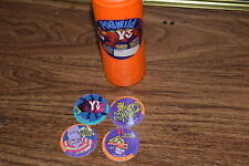 4 YTV Pogs  & YTV Pog Container 90's Vintage PIZZA HUT
