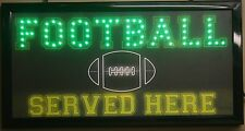 Football served led lighted sign here decor picture hanging neon message display