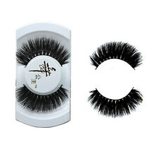 1Pair Luxurious 100% Real Mink Long Natural Thick Eye Lashes False Eyelashes TGS