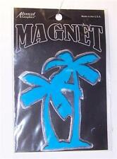 "Tropical Palm Trees Car Truck Fridge Magnet 5"" Turquoise & Chrome Color Gift"