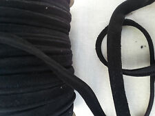 2 Meters Faux Suede 8mm Black Insertion Cord Flanged Rope Piping Upholstery