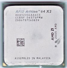 AMD Athlon 64 x2 5200+, am2, 2,6 GHz, bus de sistema de 1000, 2 MB de l2, ada5200iaa6cs, 89 vatios
