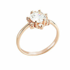 F616 Romantic 9K Rose Gold Filled Engagement Wedding Ring,size 6,