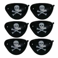 6 Pirate Eye Patches Pinata Toy Loot Party Bag Fillers Wedding Kids Skull