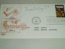SIGNED Jane Wyatt FIRST DAY COVER STAR TREK actress SPOCK'S MOTHER ! VG COND !