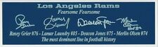 Los Angeles Rams Fearsome Foursome Autograph Nameplate Football Helmet Jersey