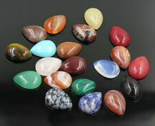 Wholesale 10pcs/lot Assorted Natural stone teardrop CABOCHON Stone Beads 13x16mm