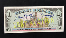 Alan Young Signed Scrooge McDuck Disney Dollar with Photo COA -
