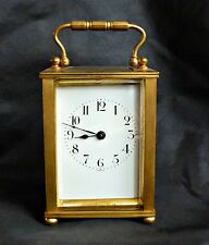FRENCH D. BARROIS BRASS CARRIAGE CLOCK