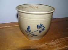 Vintage Small Pfaltzgraff FTD 1984 Marked Tan with Blue Flower Glazed Pottery