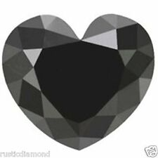 1.00 Ct Fancy Heart cut Natural Loose Black Diamond 1 Pcs for Sale Africa NR00