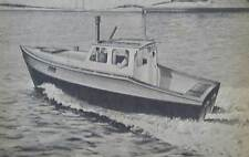 24' Cabin Cruiser flat bottom INBOARD 1952 HowTo build PLANS Heron