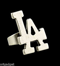 ANELLO RAP METALLO HIP HOP RING LA LOS ANGELES 793/8 sat