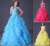 Bridal Formal Party Gown Prom Homecoming Evening Wedding Bridesmaid Dress 6-20