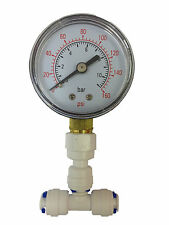 "Pressure Gauge for Aquarium RO Reverse Osmosis System / all 1/4"" water pipe"