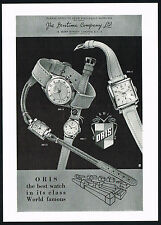 1950s Vintage 1956 ORIS Model 2065 2220 2047 2466 Watch Mid Century Art Print AD