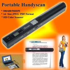 iSCAN 900DPI Portable Handheld Scanner A4 Photo Document Book Digital Handyscan