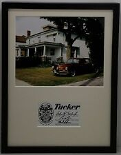 Limited Edition Print Tucker with Preston Tucker's Home Signed by Tucker Family!