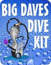 Plongée sous-marine kit de décalcomanie personnalisé avec votre nom ou club imperméable