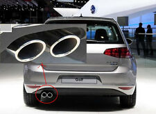 Stainless Steel Muffler Exhaust Tail Pipe Tip FOR VW GOLF 7 MK7 Exhaust 14-15