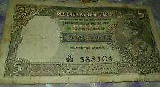 Very awesome five rupee Note Governor  C. d Deshmukh