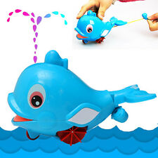 1pc Whale Squirting Baby Kids Bathing Toy Water Play Plastic Swimming amphibious