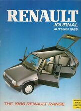Renault Journal Autumn 1985 UK Market Sales Brochure 4 5 9 11 18 Espace 25