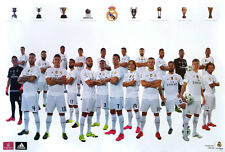"REAL MADRID 22 PLAYERS 2015 - 2016 POSTER 23""x34"" UEFA League Football Soccer"