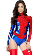 Womens Spiderwoman Sensible Seductress Sexy Hero Costume Cosplay Superhero