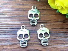 5pcs Skull Tibetan Silver Bead charms Pendants DIY jewelry 22x12mm #HJ-77