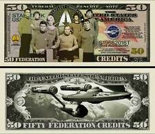Star Trek 50th Anniversary 50 Credits Collectible Funny Money Novelty Note