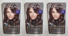 3x Loreal Recital Preference 5.21 Intensives Kühles Hellbraun