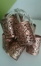 Stunning 8 Bronze Moroccan Lantern String Fairy Lights Wedding