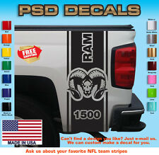 Dodge Ram 1500 Rear Bed Vinyl Decal Stripes Truck Graphics T-126