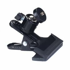 Metal Photo Studio Flash Spring Clamp Clip Mount With Ball Head--Black Color BT