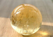35-38mm Natural Citrine Quartz Crystal Sphere Ball Healing Gemstone+Stand