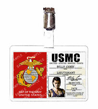 Resident Evil 0 USMC Marine Corps Billy Coen ID Badge Cosplay Prop Comic Con