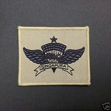 Singapore DESERT freefall airborne special forces commando para wing badge halo