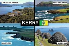 SOUVENIR FRIDGE MAGNET of COUNTY KERRY IRELAND RING OF KERRY KILLARNEY