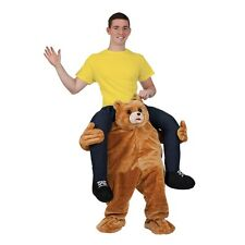Carry Me Teddy Mascot Bear Sports Mascot Deluxe Novelty Fancy Dress Costume