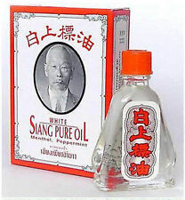 SIANG PURE PEPPERMINT MENTHOL OIL AROMA RELIEVE DIZZINESS WHITE FORMULA 3 CC.