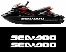 2 X MEDIUM SEA DOO  Bombardier Jetski Quad Vinyl Decal Stickers BOAT FISHING