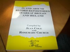 book in and around repositories in great britain & ireland jean cole