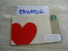Canada ,Starbucks,new gift card, 6083  valentines day