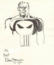 Punisher Drawing - 2001 Signed art by Klaus Janson
