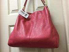 Coach 26224 Loganberry Pink Madison Small Phoebe Leather Shoulder Bag