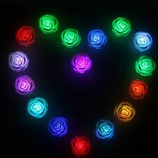 Romantic Rose Flower Changing Colors LED Lamp Candle Lights Night Decoration W