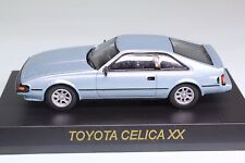7257 Kyosho 1/64 TOYOTA CELICA XX (Supra) Light Blue Silver With Tracking Number
