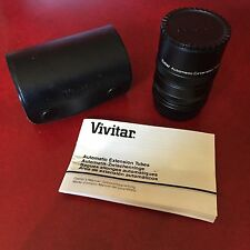 Vivitar Automatic AT-1 Extension Tube 12mm - 20mm - 36mm Screw Mount Lense EUC