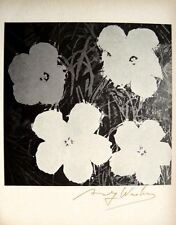 """Andy Warhol, """"FLOWERS"""" Hand signed Print in cooper-red pen 1966 w/Coa"""